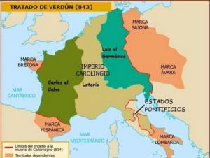Desmembración del Imperio Carolingio