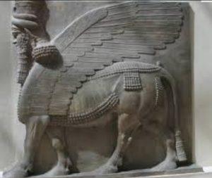 cual es la escultura de mesopotamia