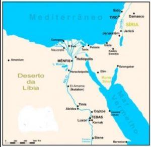 MAPA DE LA HISTORIA DE EGIPTO