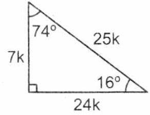 Triangulo notable de 16° y 74°