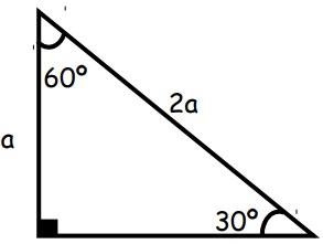 Triangulo notable de 30° y 60°