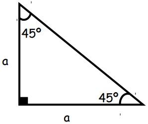 Triangulo notable de 45°
