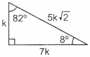 Triangulo notable de 8° y 82°
